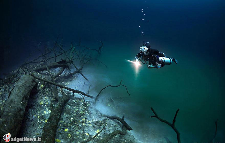 cenote angelita underwater river mexico