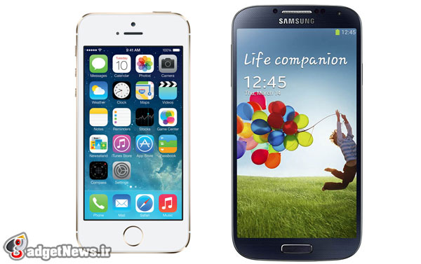 galaxy s4 vs iphone 5s