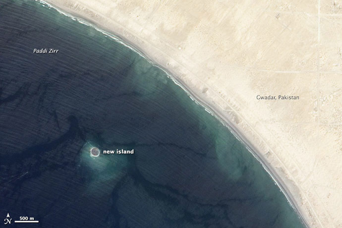 pakistan new island earthquake
