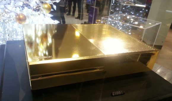 xbox one plated in 24k gold