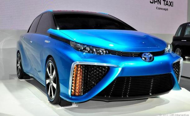 toyota fuel cell vehicle ces 2014
