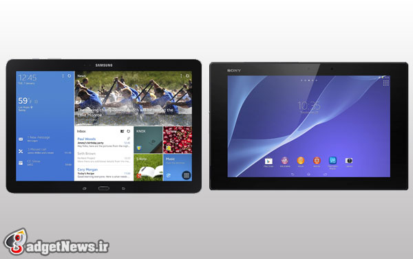 sony xperia z2 tablet vs samsung galaxy note pro 12.2