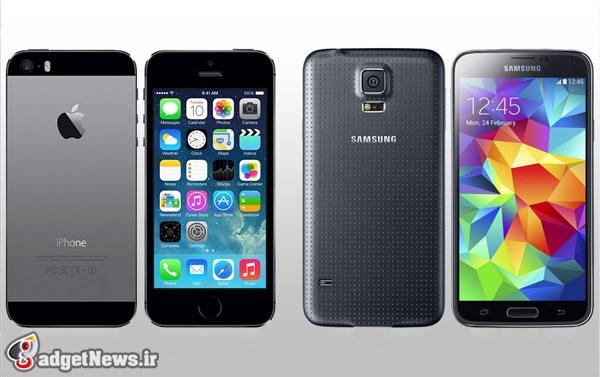 galaxy s5 versus iphone 5s
