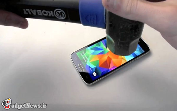 galaxy s5 hammer knife test video