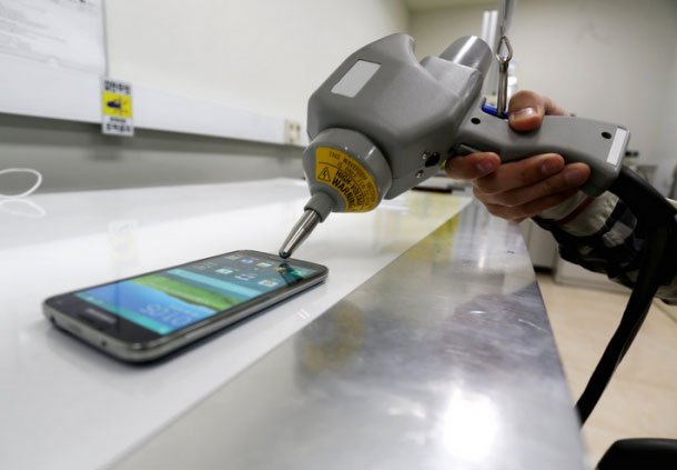 see how samsung tested the samsung galaxy s5
