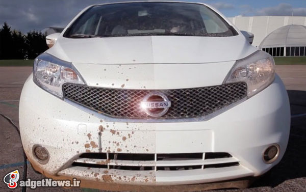 nissan shows self cleaning car nano paint