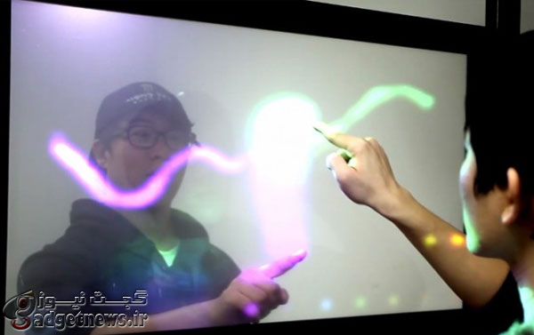 Transparent touchscreen display