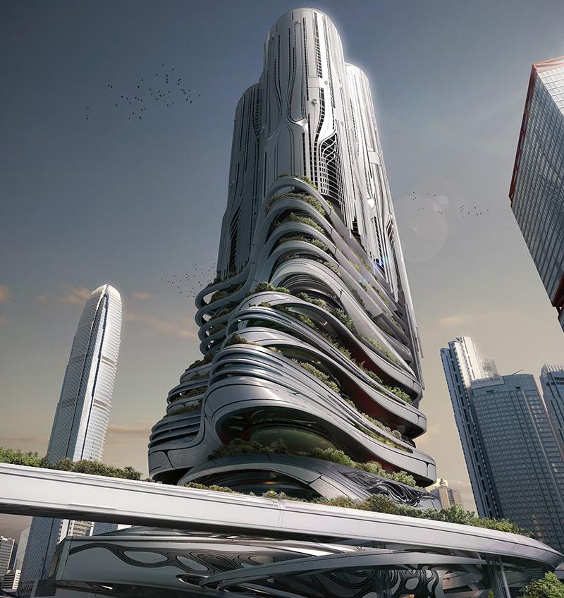 PieXus Tower مرکز جا به جایی شهری طراحی شده توسط یک تیم آمریکایی