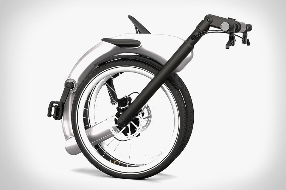 دوچرخه برقي تاشو مجهز به اينترنت