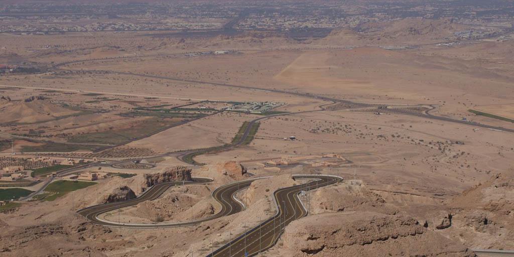 جاده کوهستانی جبل هفیت در ابوظبی