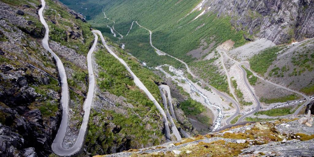 جاده ترولستیگن در نروژ