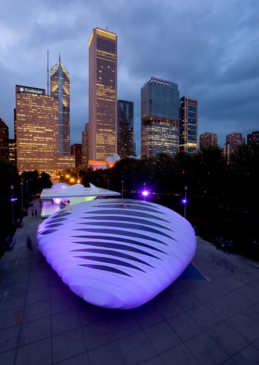 معماری زیبای«زاها حدید»عمارت کلاهفرنگی برنهام شیکاگو
