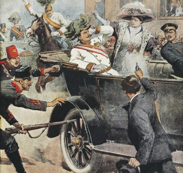 لحظه ترور ولیعهد اتریش از نگاه نقاشان