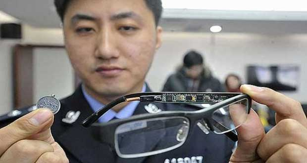 Chinese-Students-Caught-Using-Spy-Gadgets-To-Cheat-Exam