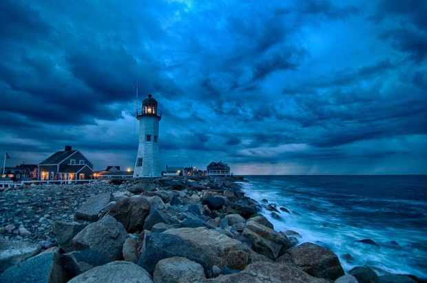 Old Scituate Lighthouse (Built In 1810), Massachusetts, USA