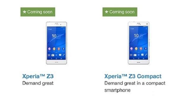 پیش فروش Xperia Z3 و Xperia Z3 Compact در سایت رسمی Sony