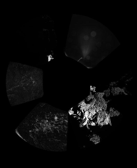 نخستین تصویر پانوراما از سطح دنباله دار