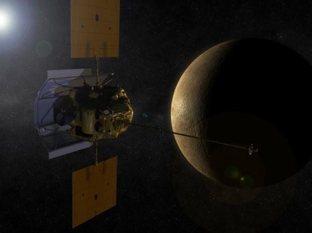 تصویری گرافیکی از مدارگرد مسنجر ( MESSENGER ) ناسا