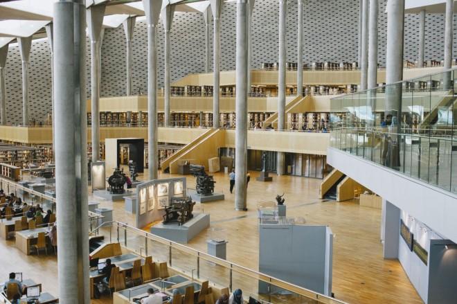کتابخانه شهر اسکندریه در مصر