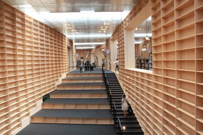 کتابخانه دانشگاه هنر ماساهینو در توکیو ژاپن