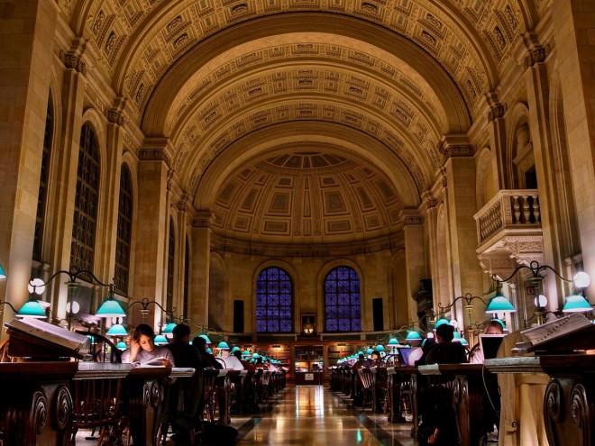 کتابخانه عمومی بوستون ایالت ماساچوست آمریکا