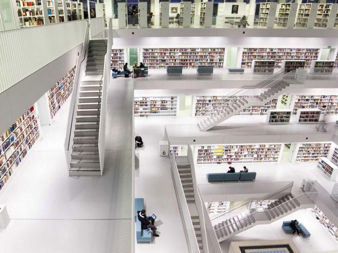 کتابخانه شهر اشتوتگارت در آلمان