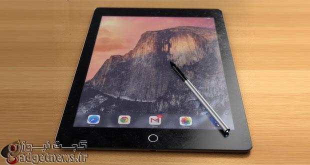 طرح مفهومی آی پد ۱۲ اینچی اپل با قلم استایلوس