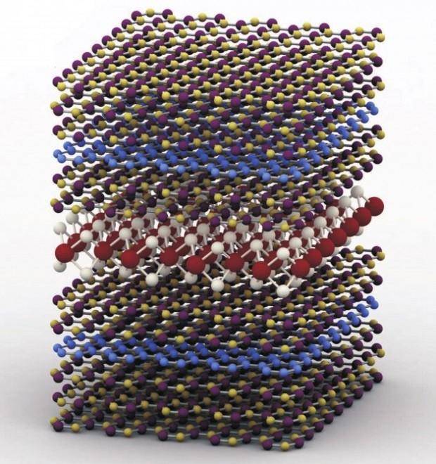 طرحی از LED تولیدشده از مواد دوبعدی چندلایه