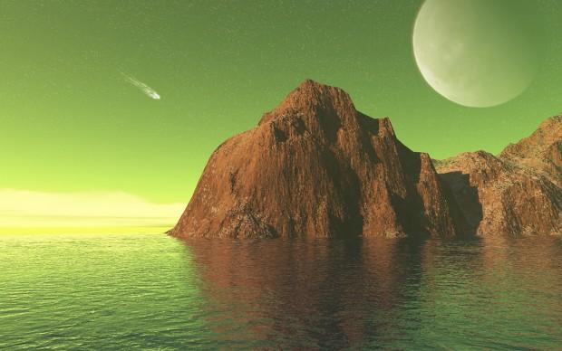 ۱۴۴۰x900-alien-life-forms-green-water-comet-desktop-free-wallpaper