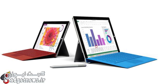 مایکروسافت و رونمایی از تبلت سرفیس ۳ با ویندوز ۸.۱