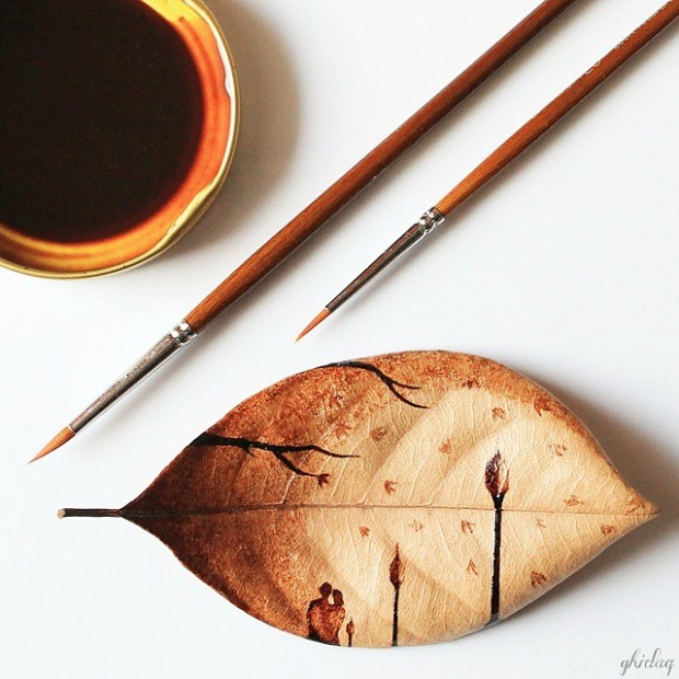 coffee painting leaf grounds ghidaq al nizar coffeetopia 16 620x620 خلق شاهکارهایی زیبا با قهوه