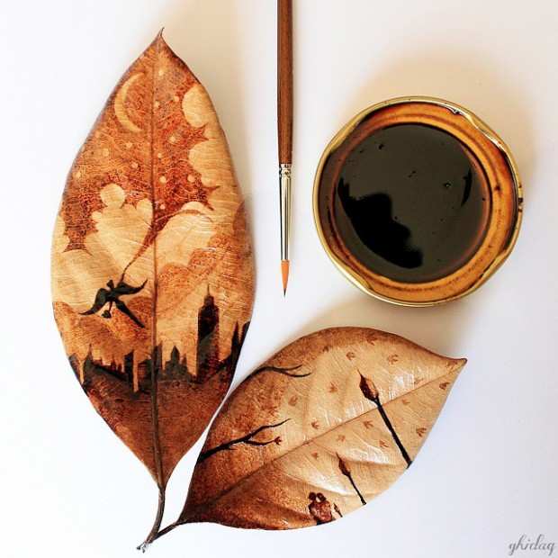coffee painting leaf grounds ghidaq al nizar coffeetopia 42 620x620 خلق شاهکارهایی زیبا با قهوه