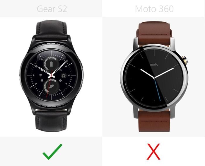 580533 مقایسه تصویری دو ساعت هوشمند سامسونگ گیر اس ۲ و نسل دوم موتورولا موتو ۳۶۰