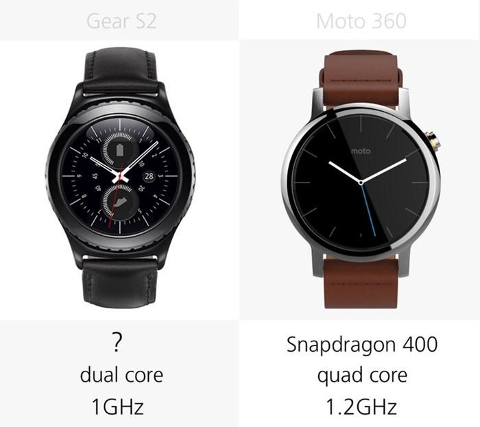 580534 مقایسه تصویری دو ساعت هوشمند سامسونگ گیر اس ۲ و نسل دوم موتورولا موتو ۳۶۰