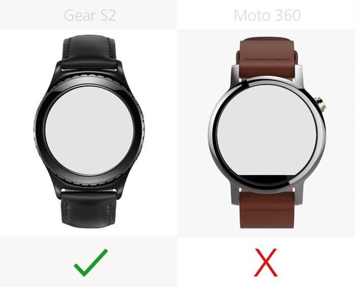 580538 مقایسه تصویری دو ساعت هوشمند سامسونگ گیر اس ۲ و نسل دوم موتورولا موتو ۳۶۰
