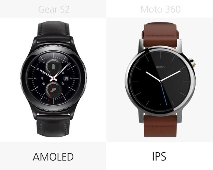 580539 مقایسه تصویری دو ساعت هوشمند سامسونگ گیر اس ۲ و نسل دوم موتورولا موتو ۳۶۰