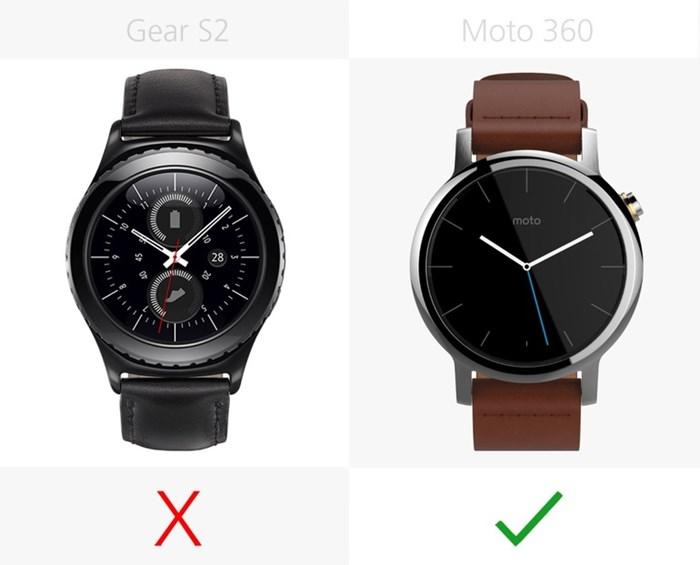 580541 مقایسه تصویری دو ساعت هوشمند سامسونگ گیر اس ۲ و نسل دوم موتورولا موتو ۳۶۰
