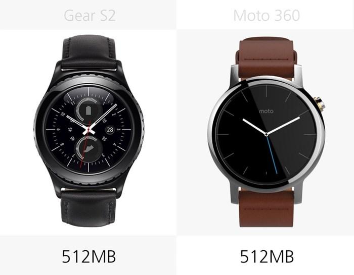 580544 مقایسه تصویری دو ساعت هوشمند سامسونگ گیر اس ۲ و نسل دوم موتورولا موتو ۳۶۰