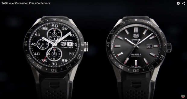 Tag Heuer Connected Watch 1 620x328 ساعت لوکس سوییسی با سیستم Android Wear