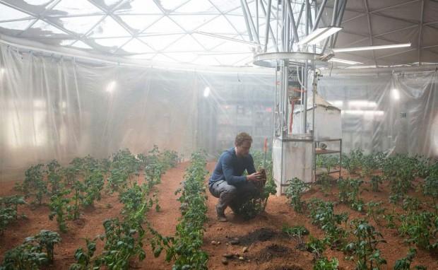 گلخانه کاشت سیب زمین مارک واتنی در مریخ.فیلم مریخی ( The Martian ) اثر ریدلی اسکات