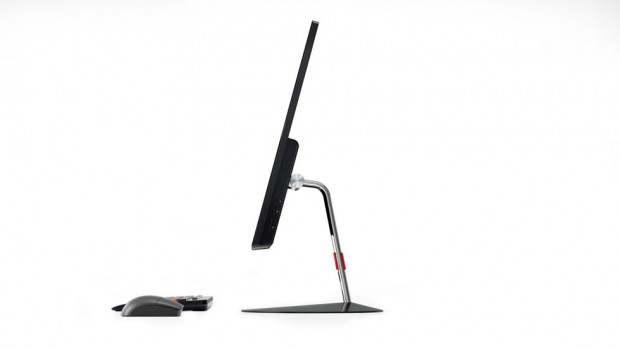 Thinkcentre X1 side shot to accentuate thinness along with keyboard and mouse