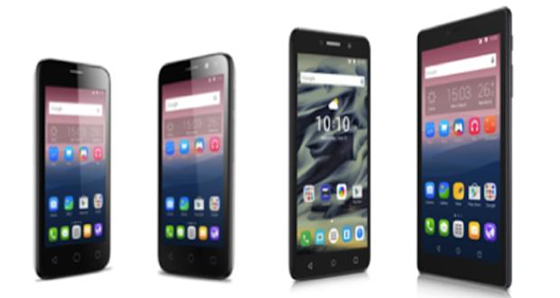 از راست به چپ، تبلت های ۷ و ۶ اینچی، موبایل های ۴ و ۳.۵ اینچی اندرویدی