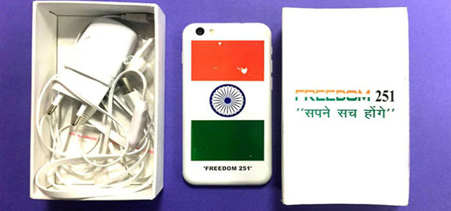 هجوم کاربران برای خرید گوشی ۴ دلاری Freedom 251، وب سایت فروش آن را از دسترس خارج کرد