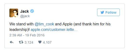 فیسبوک و توییتر نیز به حمایت از اپل برخواستند۲۲