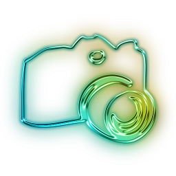۱۱۱۸۳۹-glowing-green-neon-icon-people-things-camera