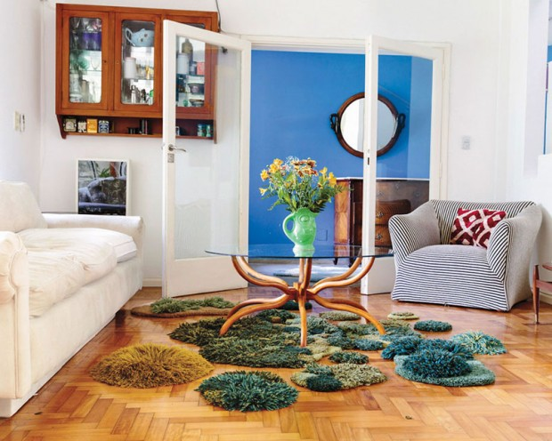 Carpets in the form of green nature (10)