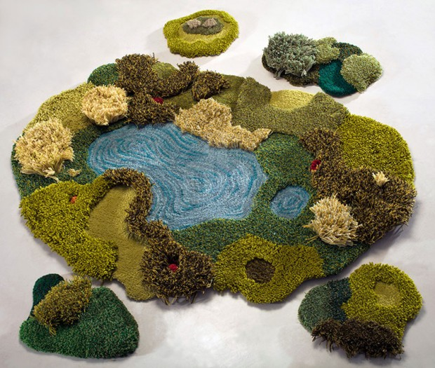 Carpets in the form of green nature (11)