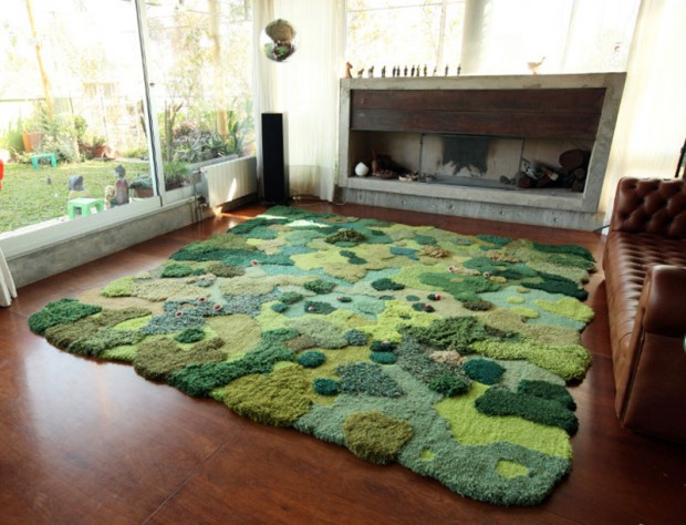 Carpets in the form of green nature (4)