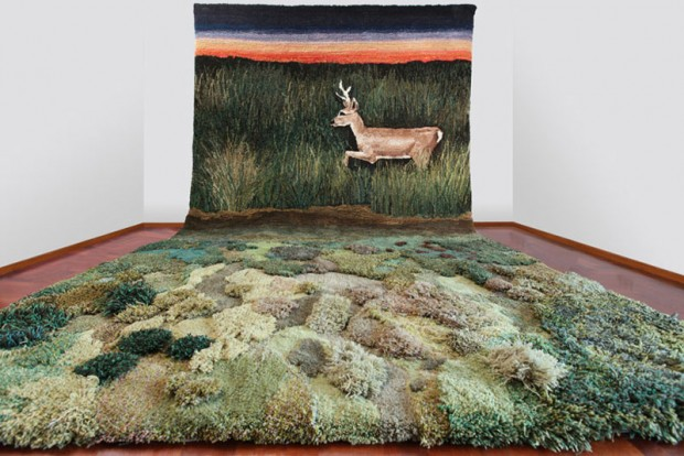 Carpets in the form of green nature (5)