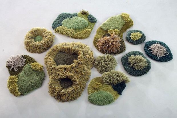 Carpets in the form of green nature (6)